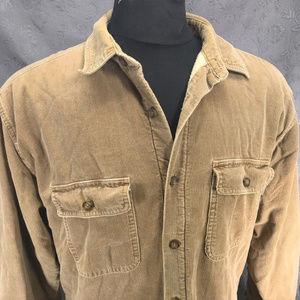 Woolrich Sherpa Fleece Lined Corduroy Shirt Jacket